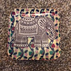 Elephant jewelry tray
